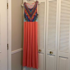 12PM by Mon Ami Sleeveless Aztec Maxi Dress